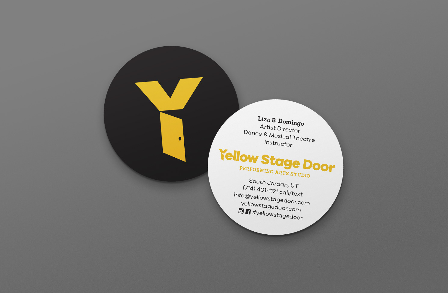 yellow-stage-door-business-cards-hazen